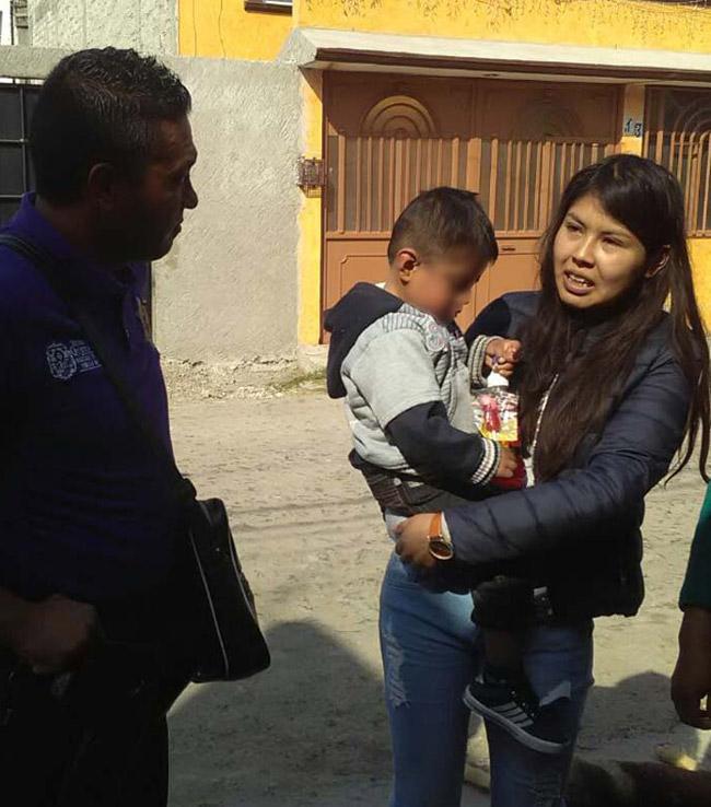 Personal de la SSPMQ encontraron a niño extraviado