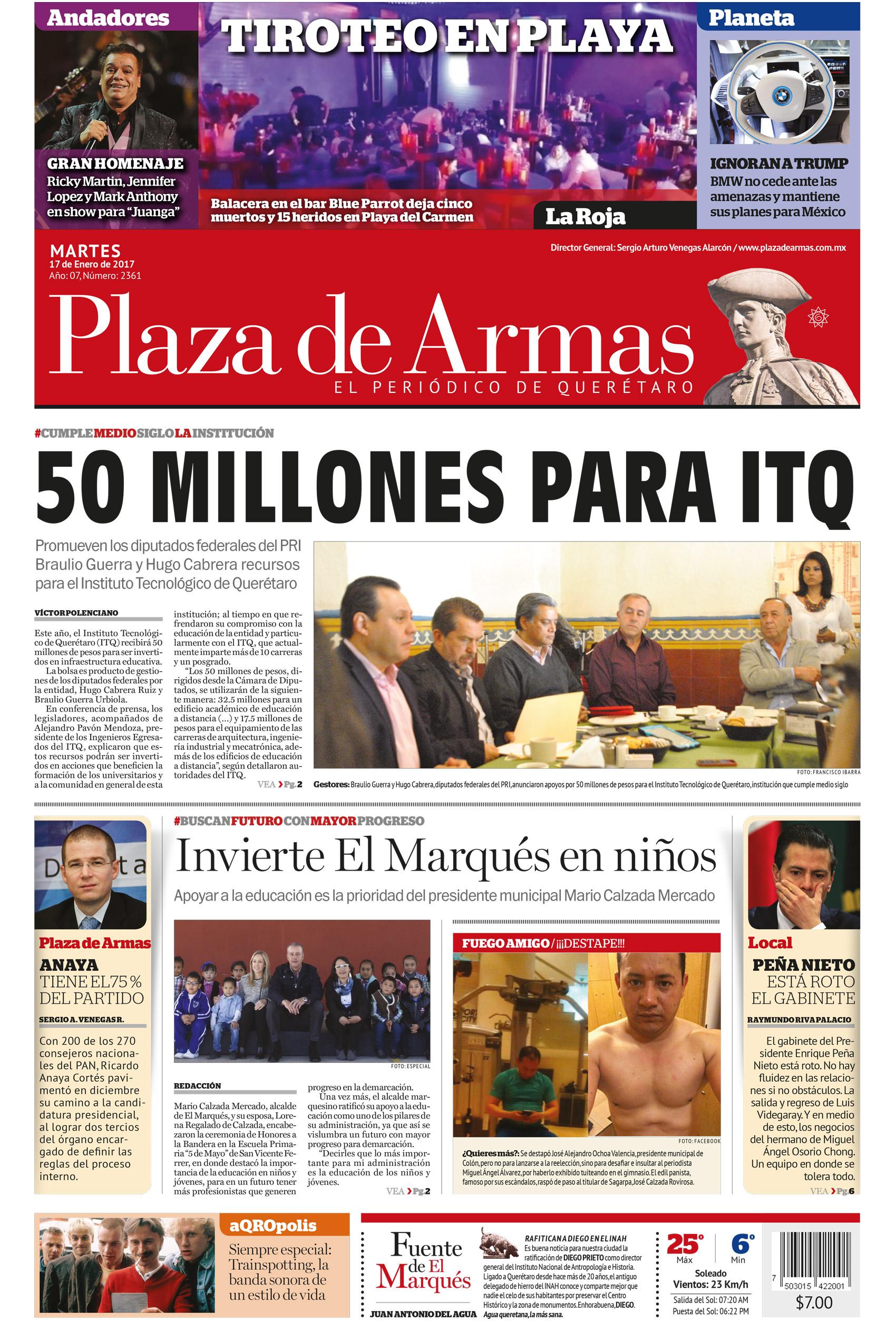 PORTADA DE HOY - Plaza de Armas   QuerétaroPlaza de Armas