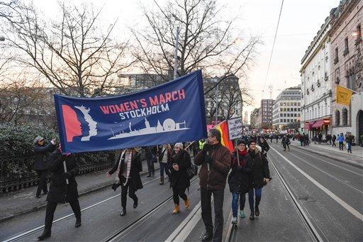 Mujeres marchan alrededor del mundo en contra de Trump