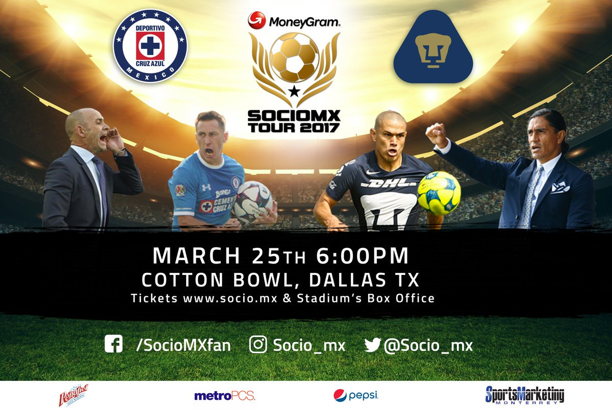 Confirman partido Cruz Azul vs Pumas en Estados Unidos