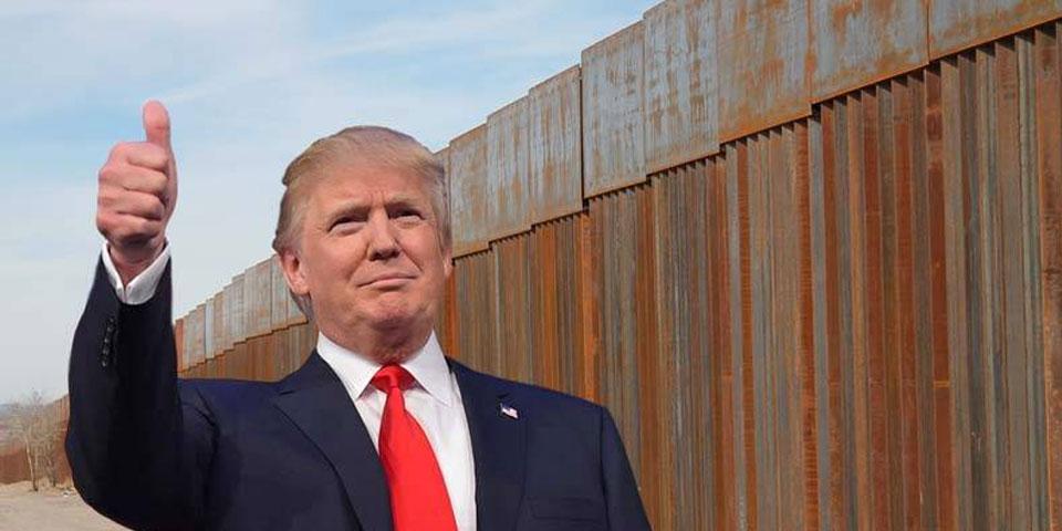 Trump vuelve a defender el muro