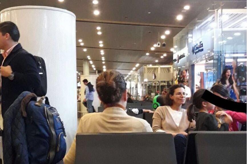Aparece esposa de Duarte en el Aeropuerto de Bogotá