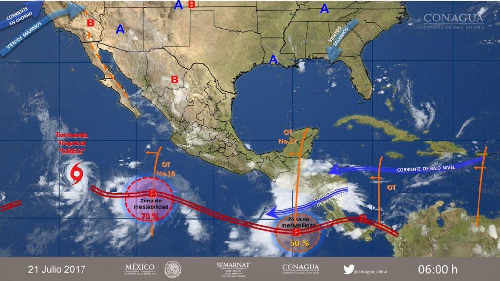 Prevén tormentas intensas en varios estados del país