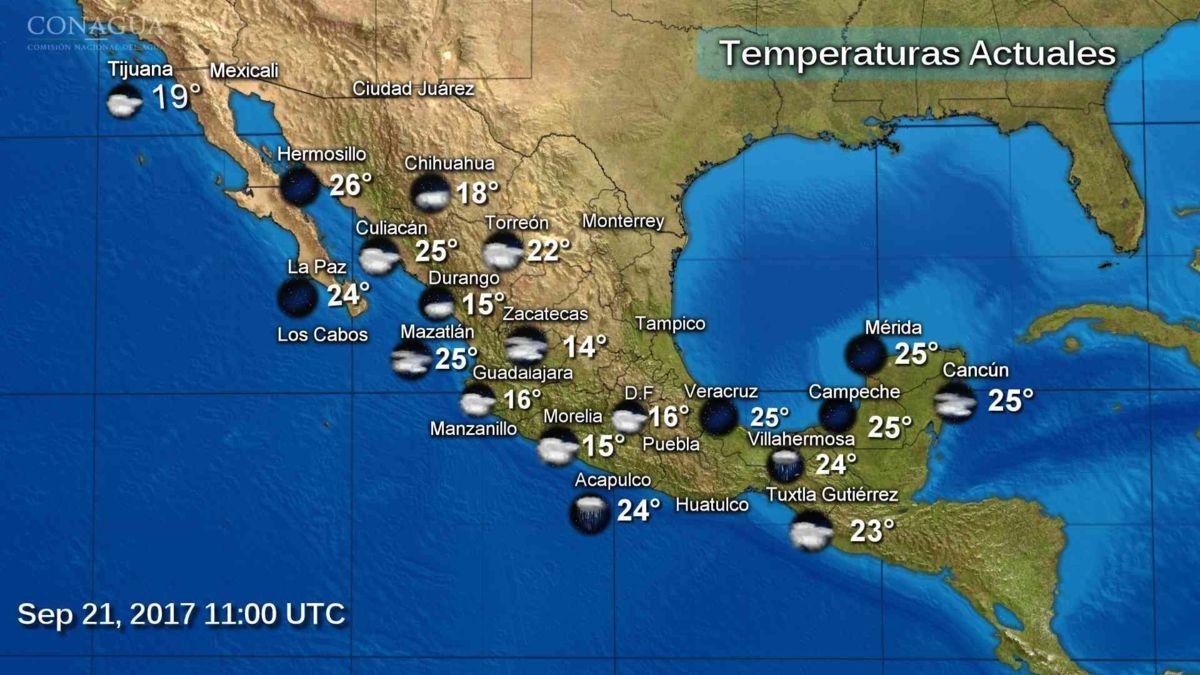 Continuarán las lluvias en el país por tres fenómenos naturales