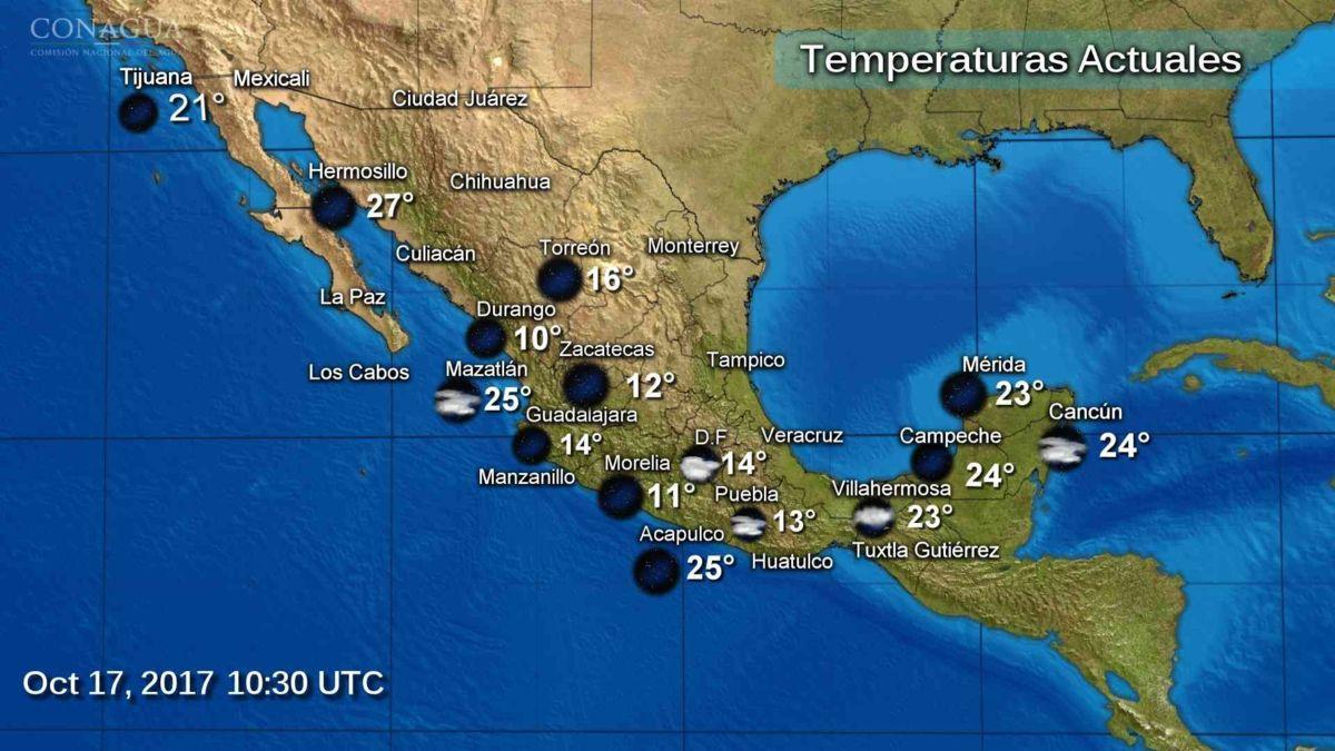 Descenso de temperatura se prevé en gran parte del país