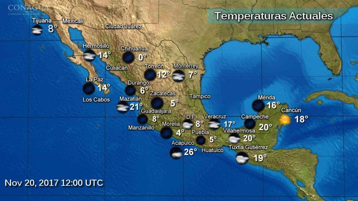 Continúa el descenso de temperatura en gran parte del país