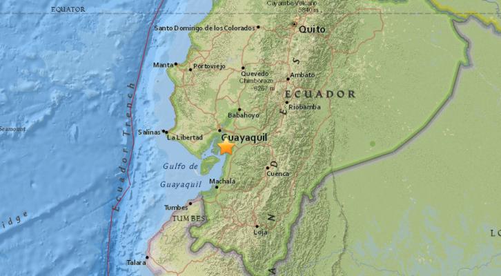 Sismo de magnitud 6.2 sacude Ecuador