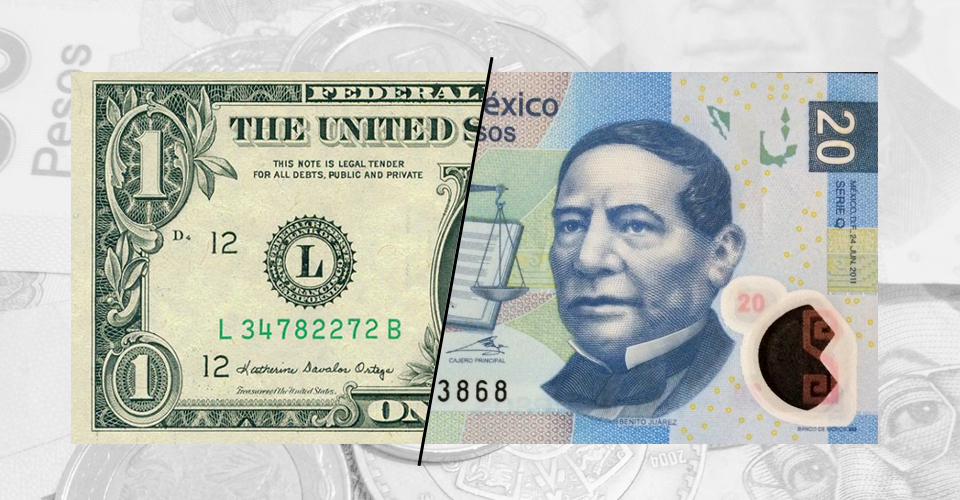 Dólar a la venta en 19.97 pesos en AICM
