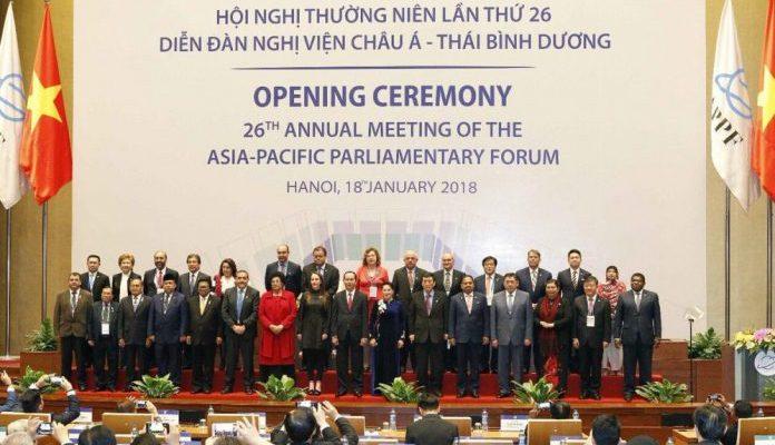 """Delegación mexicana presente en la 26ª Reunión Anual del Foro Parlamentario Asia Pacífico """"Asociación Parlamentaria: Paz, Innovación y Desarrollo Sostenible""""."""