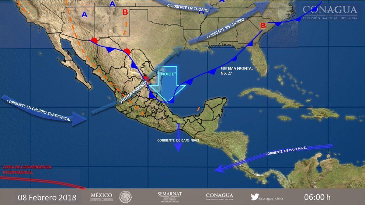 Se prevén lluvias persistentes y ambiente gélido en parte del país