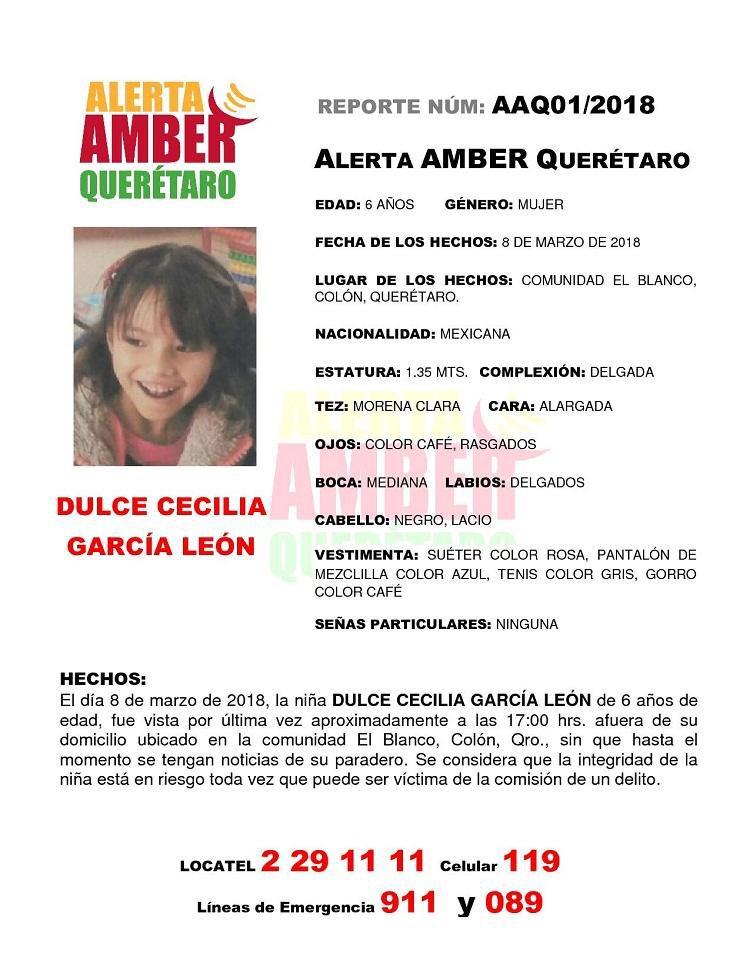 ALERTA AMBER QUERÉTARO