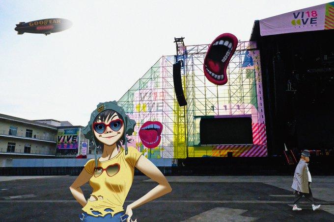 Gorillaz cierra con espectacular presentación el Vive Latino