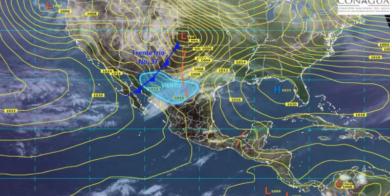 Lluvias y fuertes vientos se prevén en gran parte del país