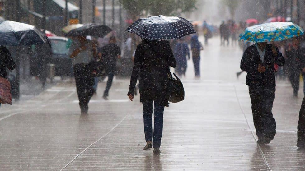 Frente frío provocará lluvias en gran parte del país