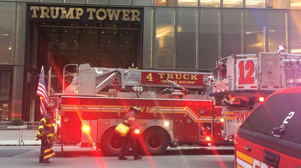 Incendio en la Torre Trump, reportan un herido grave