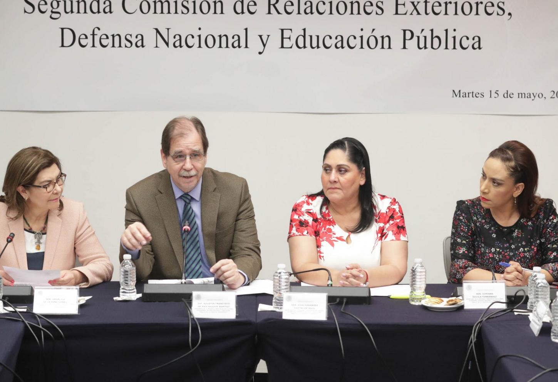 Instalan Segunda Comisión de Relaciones Exteriores, Defensa Nacional y Educación Pública