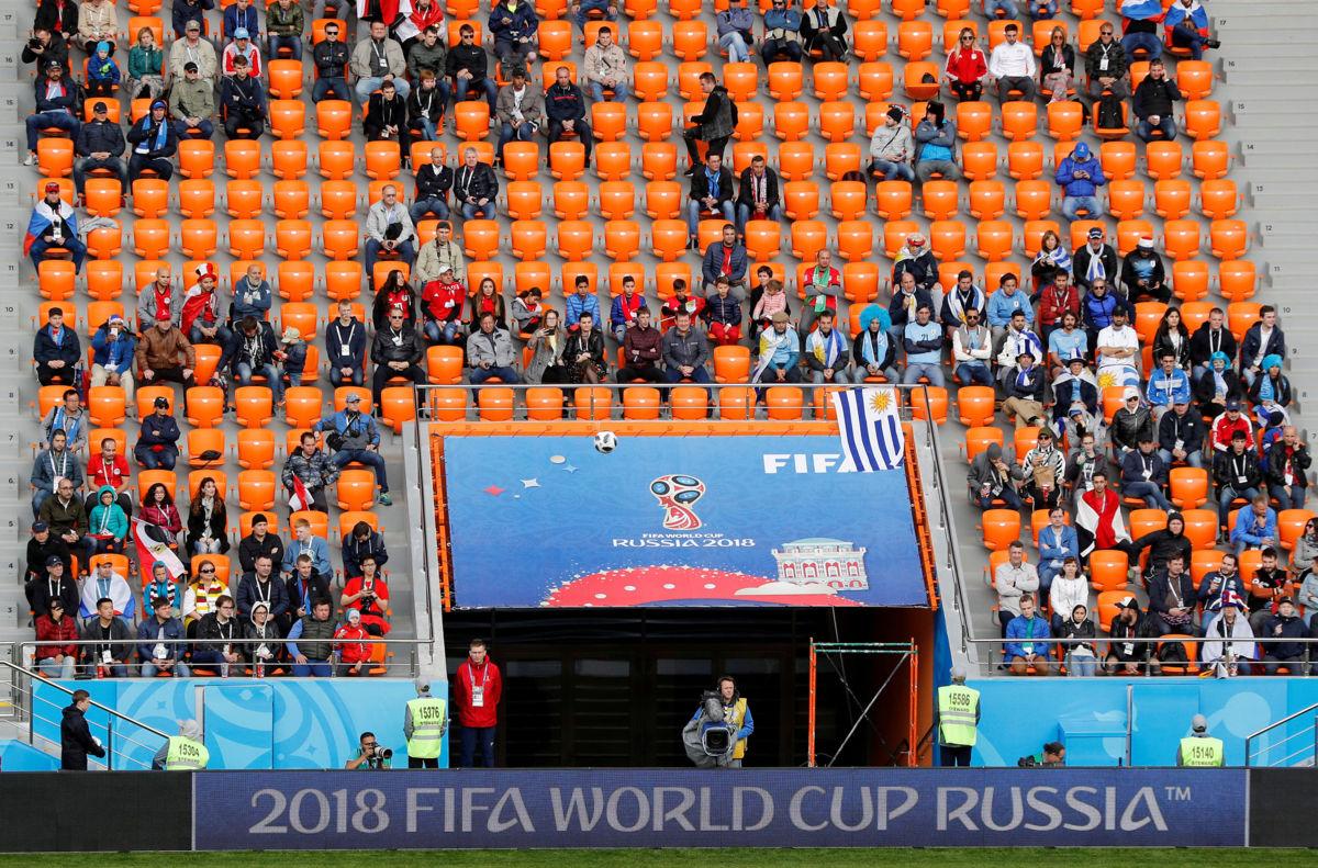 FIFA abre investigación por butacas vacías en Ekaterimburgo en juego Uruguay-Egipto