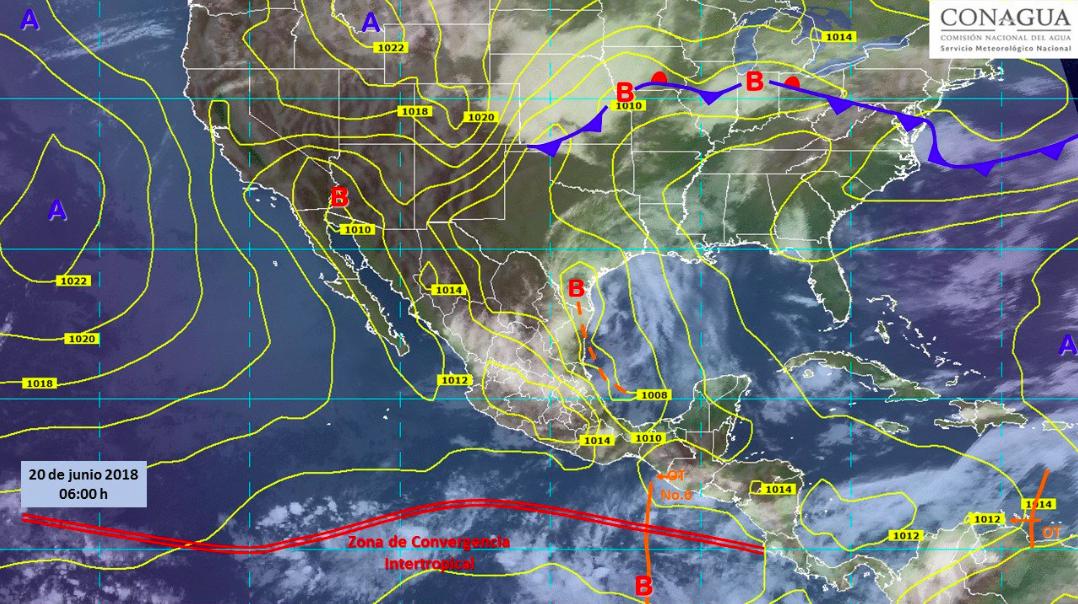 Este miércoles prevalecerán lluvias en gran parte del país