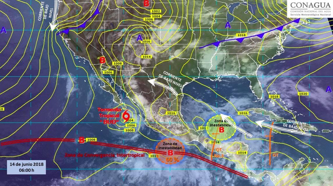 Prevén lluvias en 31 estados de la República Mexicana