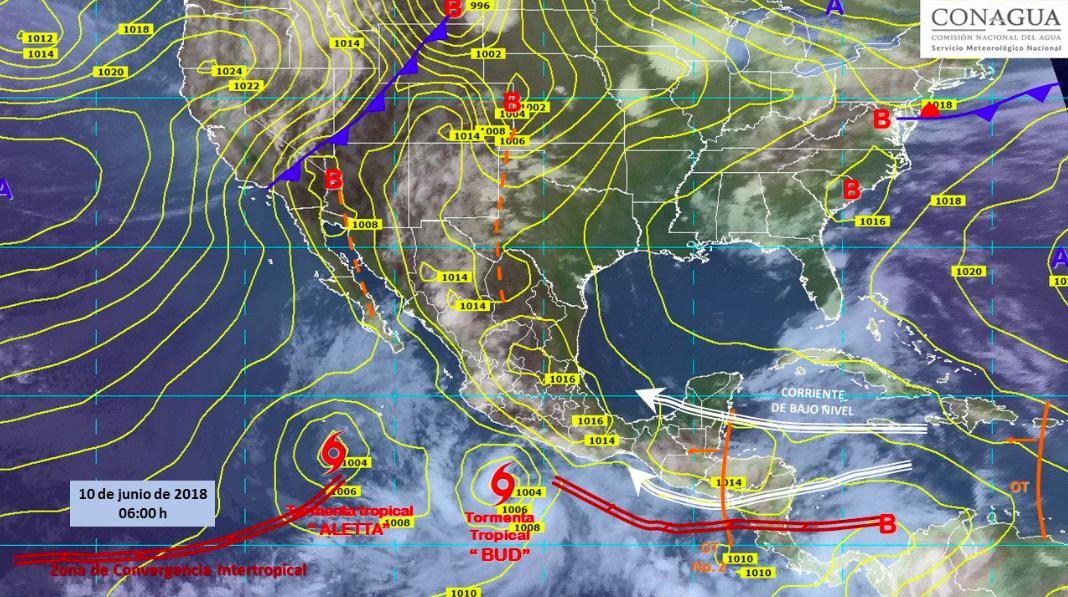 Afectará tormenta tropical al occidente de México