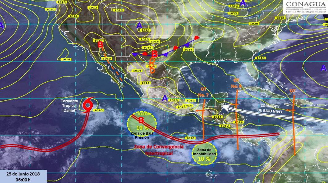 Prevén nublados densos con tormentas en el oriente, centro y sur del país