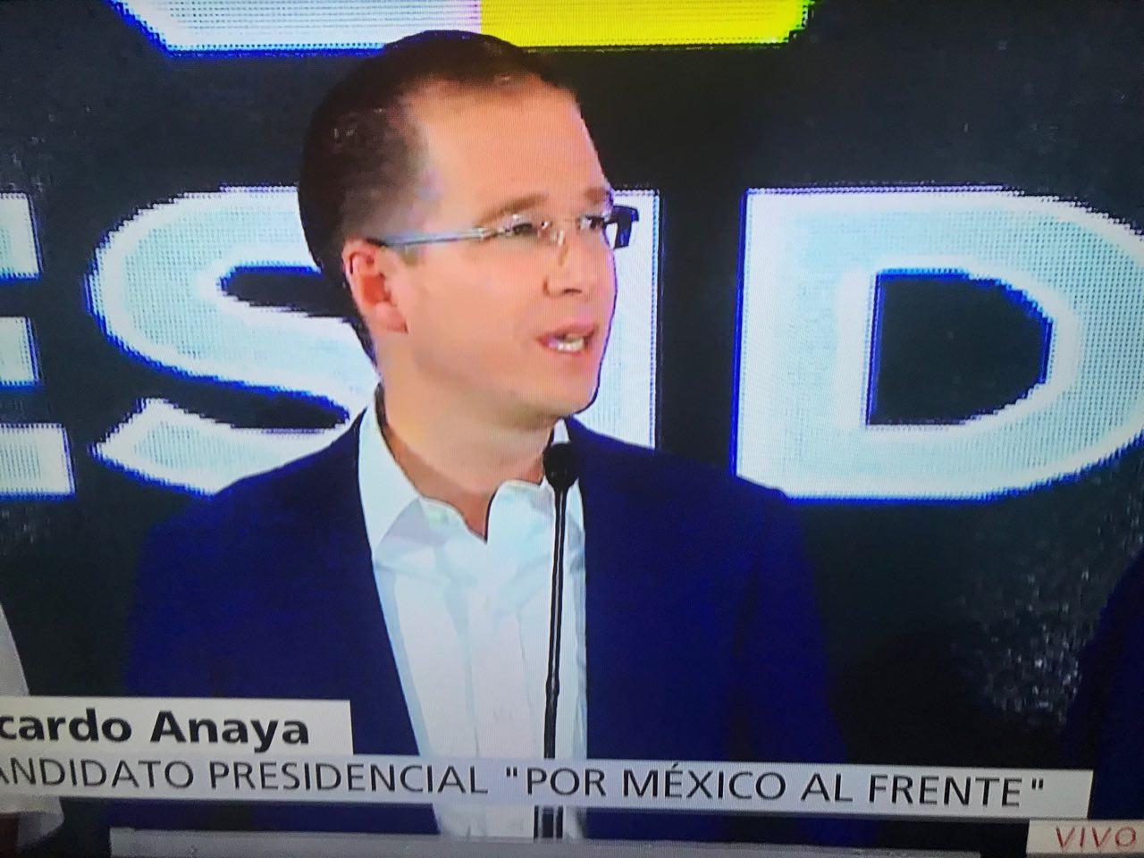 RECONOCE ANAYA TRIUNFO DE AMLO