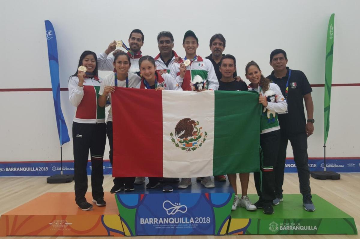 México se mantiene en la cima del tablero de medallas de los JCC Barranquilla 2018