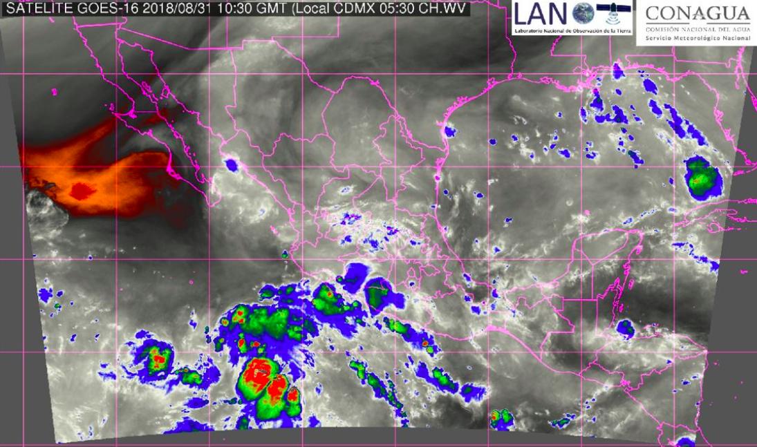 Prevén tormentas con granizo en la mayor parte de México