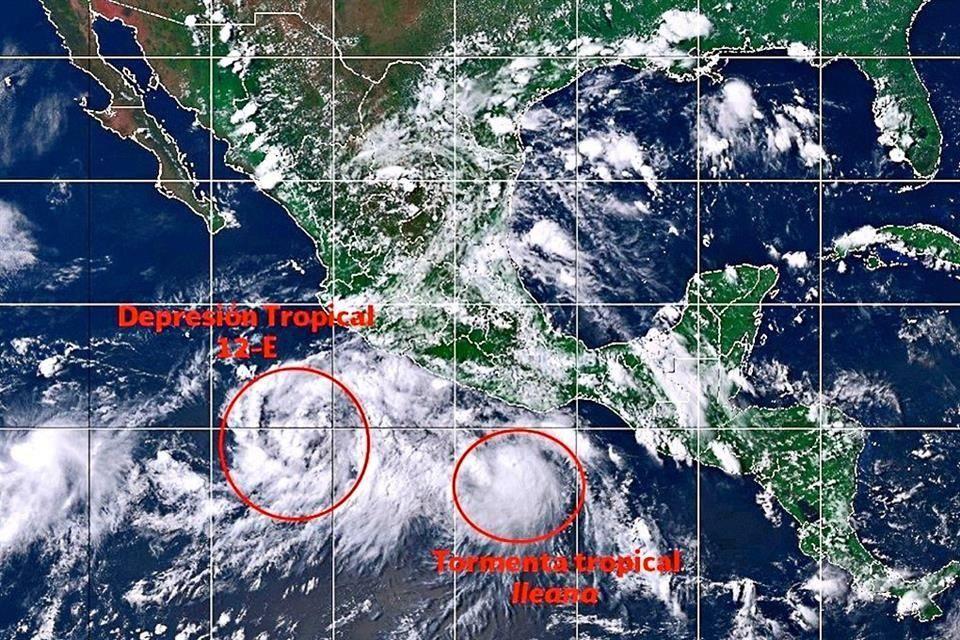 Alerta en 5 estados por la formación de las tormentas Ileana y John