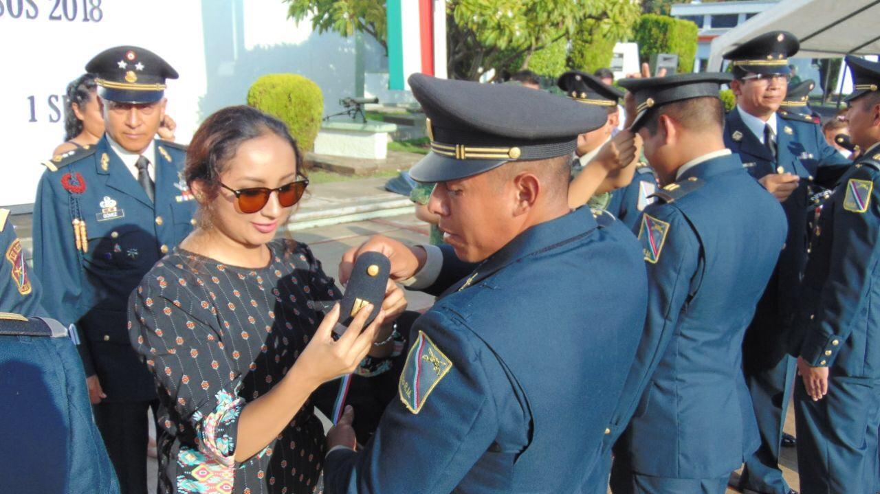 Ascienden 10 oficiales en la 17a Zona Militar