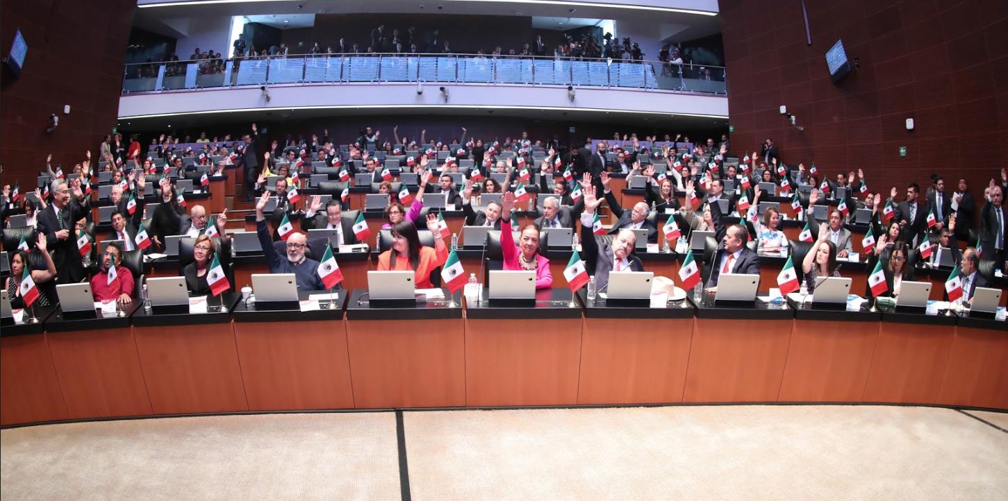 Constituye Senado ocho Grupos Parlamentarios