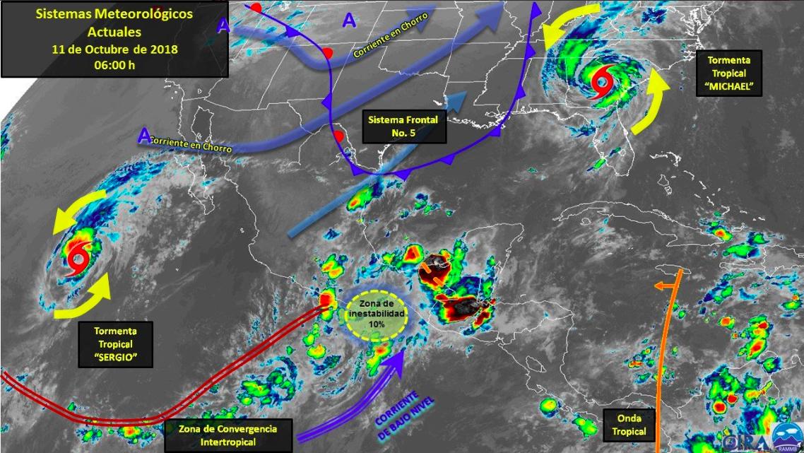 Prevén tormentas en noroeste de México por la tormenta tropical 'Sergio'